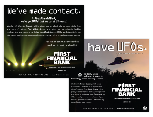 First Financial Bank Ads